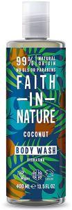 Faith in Nature Hydrating Shower Gel/Foam Bath Coconut (400mL)