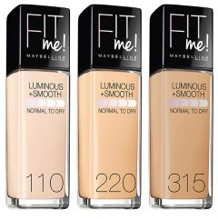Maybelline New York Fit Me! Luminous+Smooth Foundation (30mL)