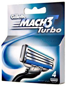 Gillette Mach 3 Turbo (x4)
