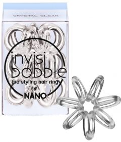 Invisibobble Nano Hair Ring (x3) Crystal Clear