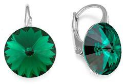 Spark Silver Jewelry Earrings Sweet Candy Emerald
