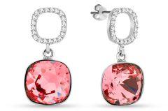Spark Silver Jewelry Earrings Orbis Rose Peach