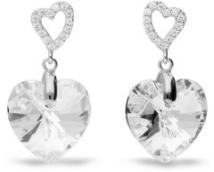 Spark Silver Jewelry Earrings Tender Heart Crystal