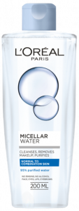 L'Oreal Paris Micellar Water For Normal To Combination Skin (200mL)