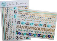 Lulu DK Pop Tats: Lola Gold/Turquoise