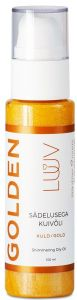 LUUV Shimmering Dry Oil (100mL) Gold