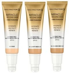 Max Factor Miracle Second Skin Hybrid Foundation (30mL)