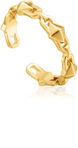Ania Haie Gold Spike Adjustable Ring