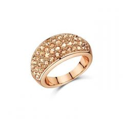 Buckley London Metallic Pave Chunky Dome Ring R484M