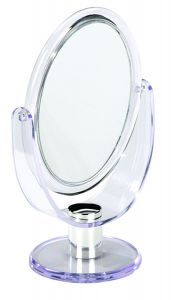 Casuelle Oval Mirror, Normal+2X Magnifying