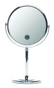 Casuelle Standing Mirror Chrome-Plated, Normal+ 3x Magnifying, Ø15cm, Height 29cm