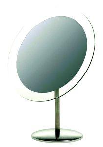 Casuelle Standing Mirror, Clear Glass Rim, Ø20cm, Height 26cm