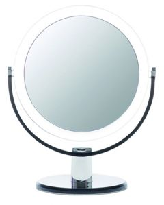 Casuelle Standing Mirror, Normal+5x Magnifying, Ø13cm, Height 21cm