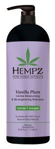 Hempz Vanilla Plum Moisturizing & Strengthening Herbal Shampoo (1000mL)