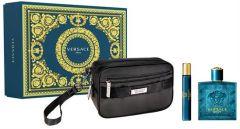 Versace Eros EDT (100mL) + EDT (10mL) + Cosmetic Bag