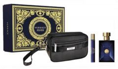 Versace Pour Homme Dylan Blue EDT (100mL) + EDT (10mL) + Cosmetic Bag
