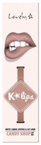 Lovely K-lips Matte Lip Kit (3g) 6 Candy Shop