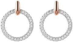 Bronzallure Small Circle CZ Earrings Rose Gold