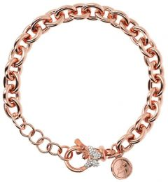 Bronzallure Pave Butterfly Adjustable Chain Bracelet White Cz